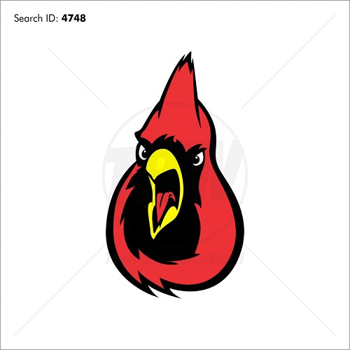 Cardinal 4 Vector Mascot - Download