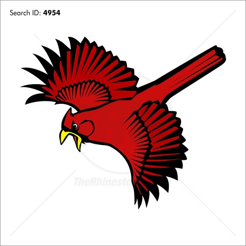 Cardinal 5 Vector Mascot - Download