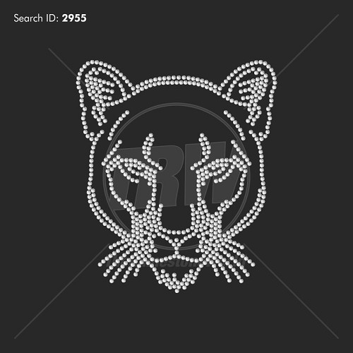 Cougars 3 Rhinestone Mascot - Download