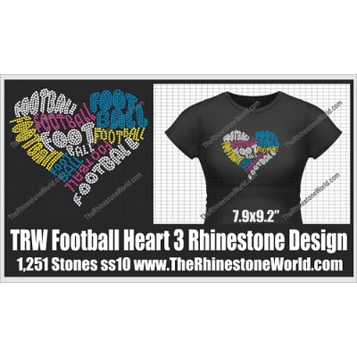 TRW Football Heart 3 Words Design  - Download