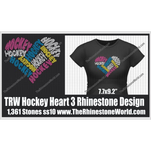 TRW Hockey Heart 3 Words Design  - Download