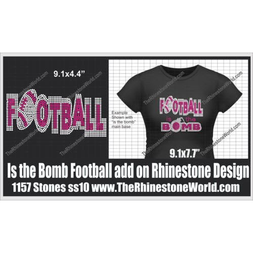 TRW Is the Bomb Football add on SF Rhinestone design (Downlo - Download