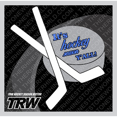 TRW It's Hockey Season Vector design   - Download