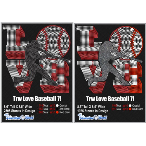 TRW Love Baseball Multi Dec Pack 7 Design W/ MOCKUP  - Download