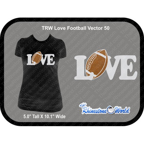 TRW Love Football 50 Vector Design  - Download
