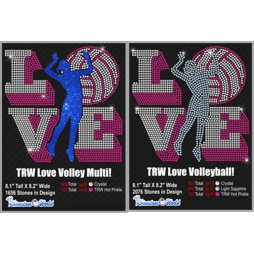 TRW Love Volleyball Multi Dec Pack 7 Design W/ MOCKUP  - Download