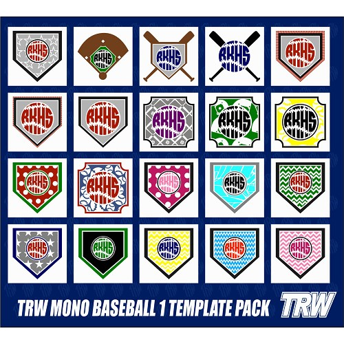 TRW Monogram Baseball 1 Template Pack 1 for TRW Stone Wizard - Download