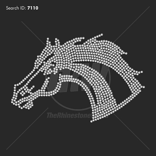 Mustangs 7 Rhinestone Mascot - Download