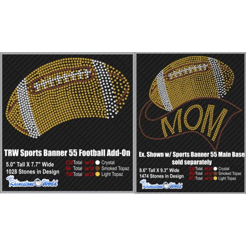 TRW SPORTS BANNER 55 FOOTBALL ADD-ON Design W/ MOCKUP  - Download