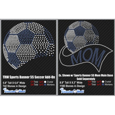 TRW SPORTS BANNER 55 SOCCER ADD-ON Design W/ MOCKUP  - Download