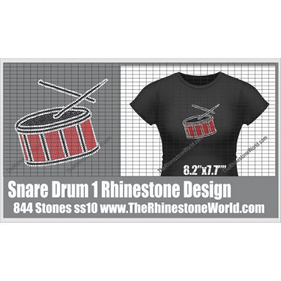 TRW Snare Drum Rhinestone Design  - Download