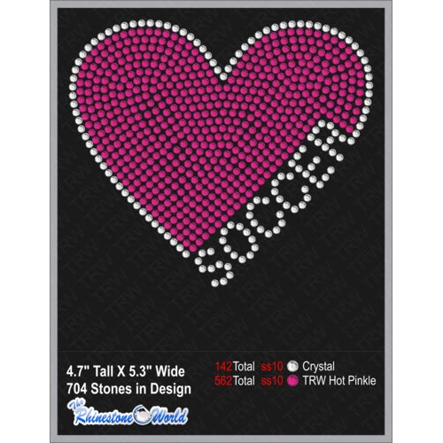 TRW Soccer Heart Decal  - Download