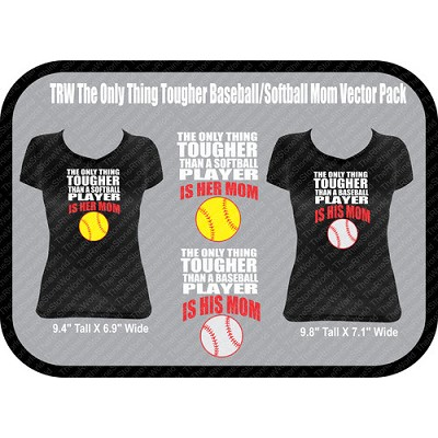 TRW THE ONLY THING TOUGHER BASEBALL/SOFTBALL VECTOR - Download