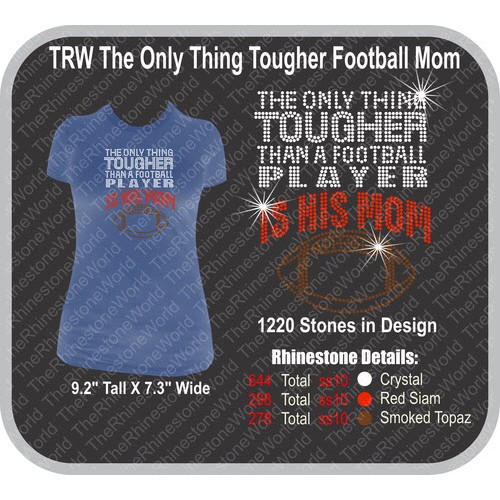 TRW The Only Thing Tougher Football Mom  - Download
