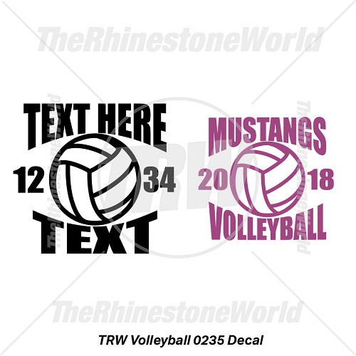 TRW Volleyball 0235 Decal (Vol 1) - Download