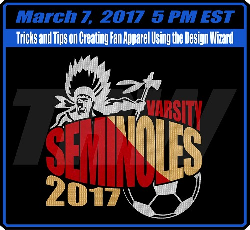Tricks and Tips on Creating Fan Apparel Using the Wizard - March 7th, 2017