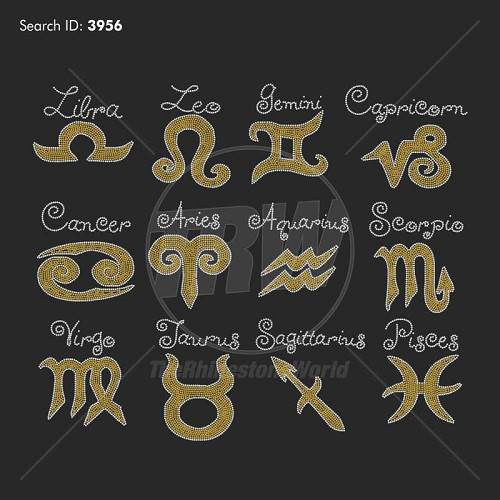 Zodiac/Horoscope 12 Rhinestone Pack - Download