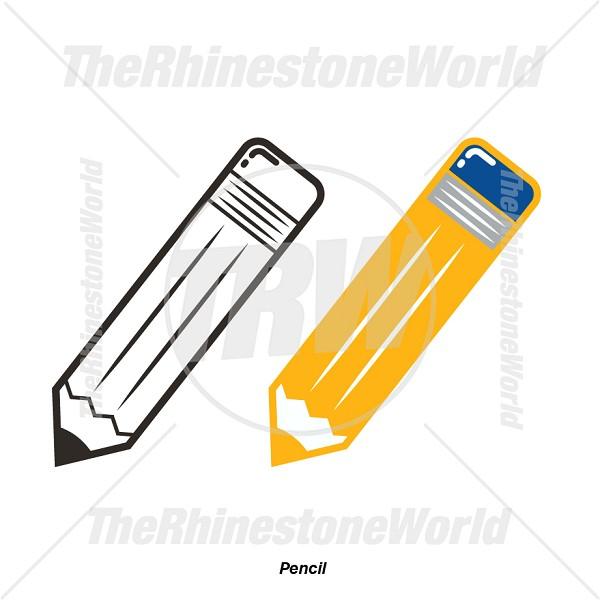 Pencil graduation. Clipart download