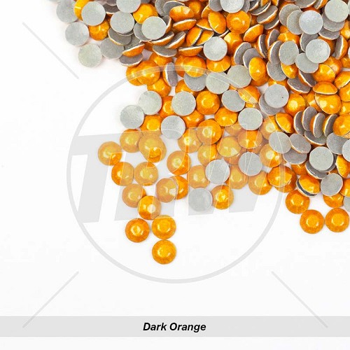 Sparkling Hot-Fix Dark Orange SS6 Rhinestuds 10-Gross