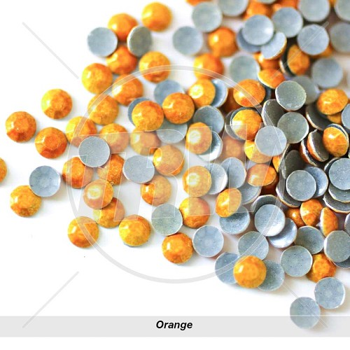 Sparkling Hot-Fix Orange SS6 Rhinestuds 25-Gross