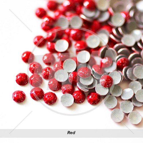 Sparkling Hot-Fix Red SS6 Rhinestuds 10-Gross