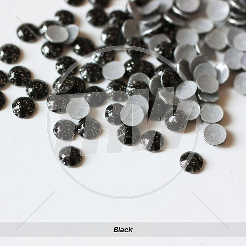 Glitter Hot-Fix Black SS10 Rhinestuds 500-Gross
