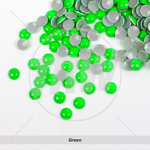 Neon Hot-Fix Green SS6 Rhinestuds 1,000-Gross