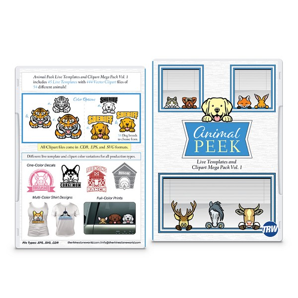 Animal Peek Live Template and Clipart Mega Pack Vol. 1