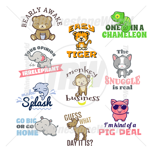 Animal Puns Live Template Mini Pack Vol 3