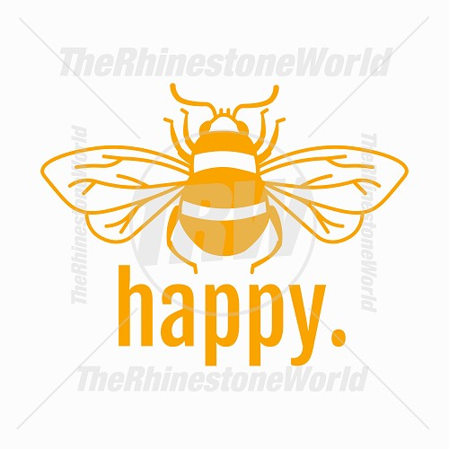 Bee Happy Vector Design