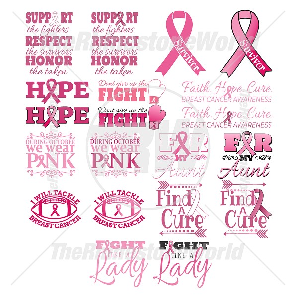 Breast Cancer Awareness Live Template Mini Pack