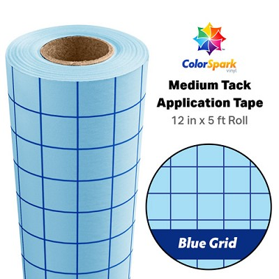 ColorSpark Medium Tack Application Tape Blue 1 inch Grid Transfer Tape