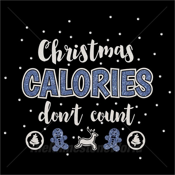 TRW Christmas Calories Scatter Multi Dec