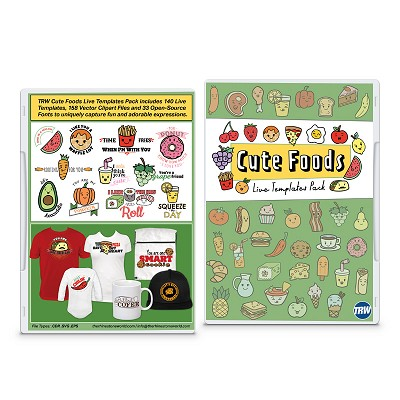 Download TRW Cute Foods Live Template Pack