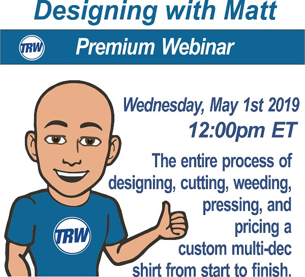 Designing & Production with Matt - 5/1/19 12:00PM ET.