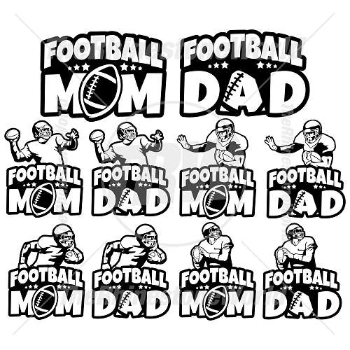 Football Parents Decal Mini Pack