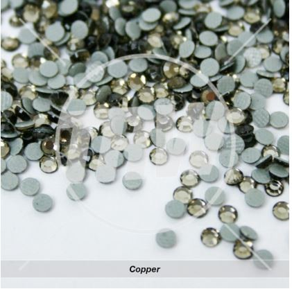 Hot-Fix Copper SS6 Rhinestones 50-Gross