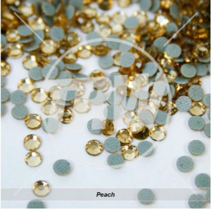 Korean 5A Low Lead Hot-Fix Peach SS6 Rhinestones 50-Gross
