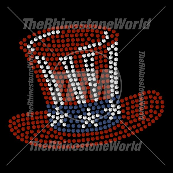 Patriotic Top Hat Rhinestone Design - Download