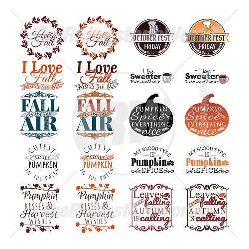 Fall Live Template Mini Pack
