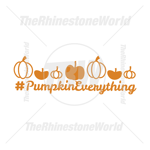 #Pumpkin Everything Vector Design