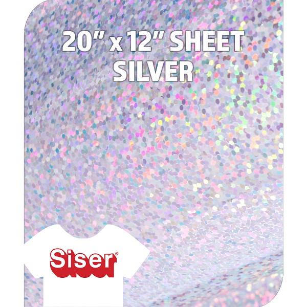 Siser Metallic Htv Silver