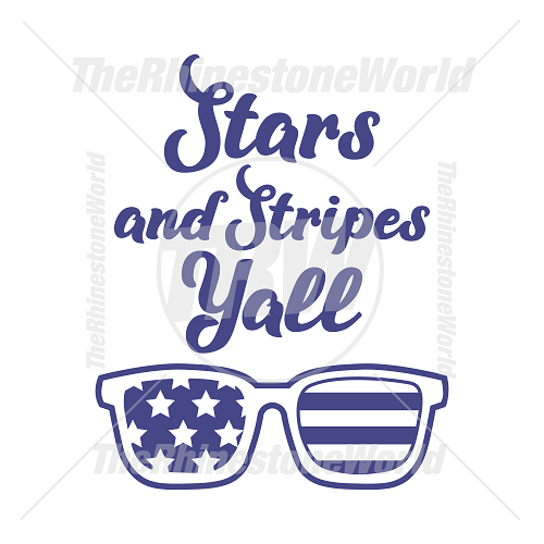 Stars And Stripes Yall Vector Design