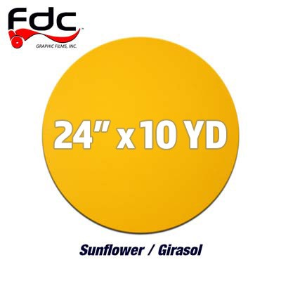 (Discontinued) FDC Intermediate 4200 Sign Vinyl 24' - Sunflower Yellow