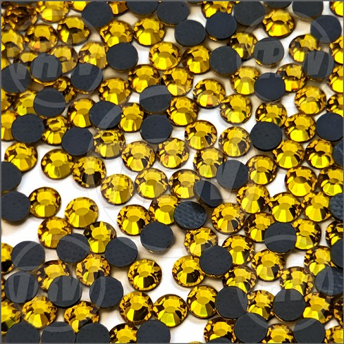 Diamond Cut Hot-Fix Citrine SS16 Rhinestones 10-Gross