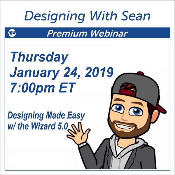 Designing with Sean - January 24th 2019