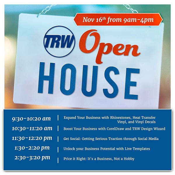 TRW Open House Nov. 16th - 2019 | Class Registration