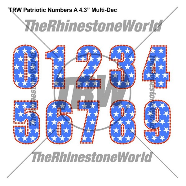 "TRW Patriotic A 4.3"" MULTI DEC NUMBERS - Download"