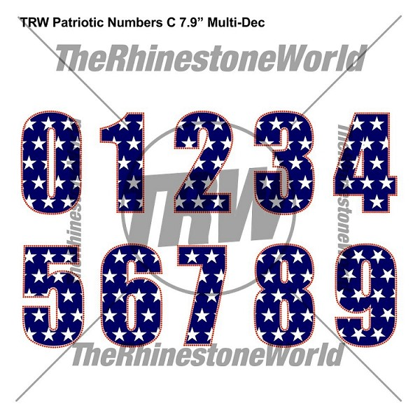 "TRW Patriotic C 7.9"" MULTI DEC NUMBERS - Download"