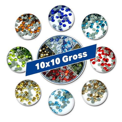 10x10 Gross Rhinestone Sample Pack
